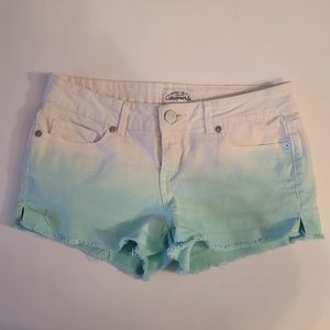 Aeropostale White Jean Shorts Size 1/2